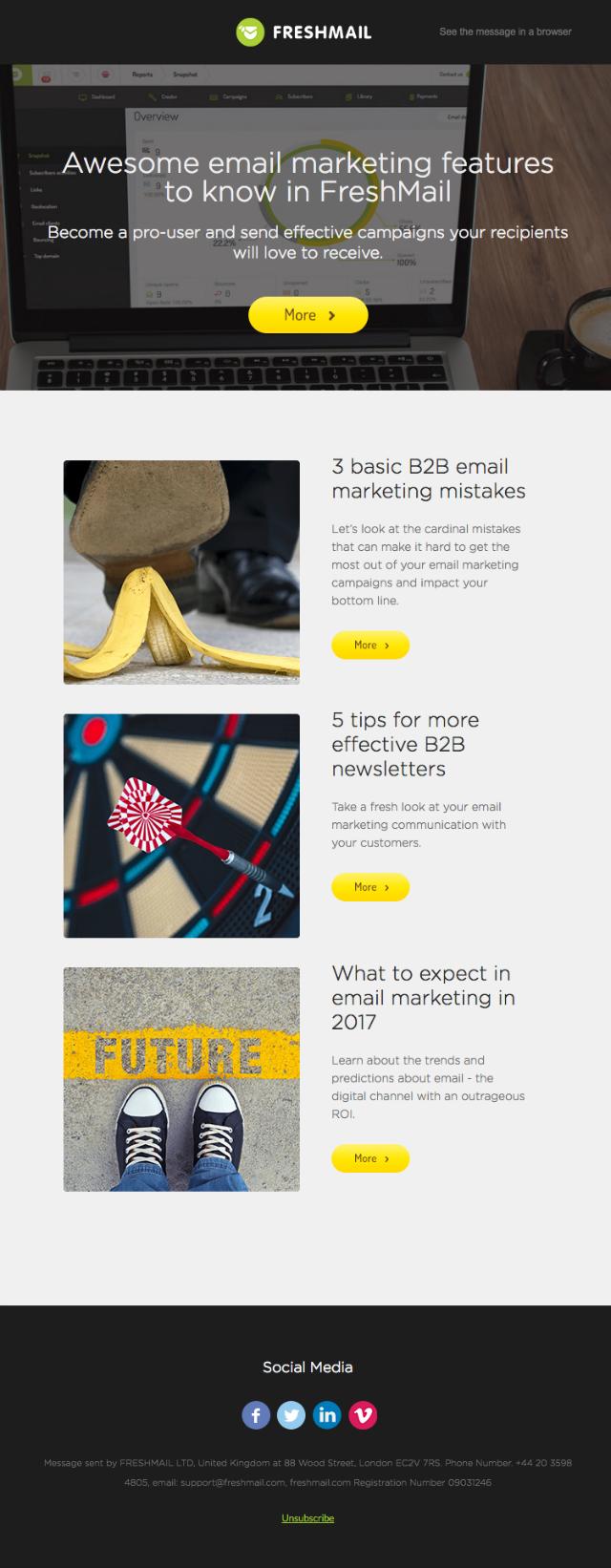 FreshMail: Newsletter