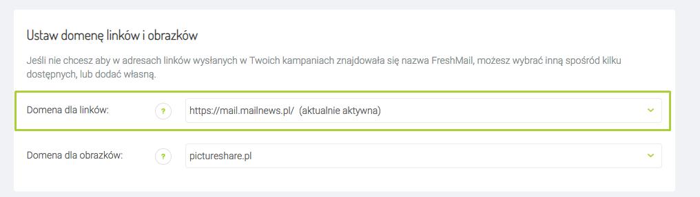 własna domena i FreshMail