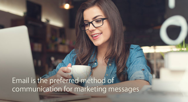 Email is the preferred method of communication for marketing messages