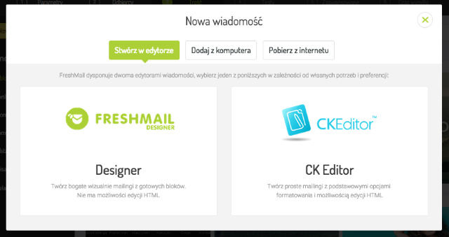 FreshMail Designer i CKEditor