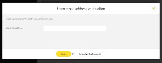 verifying address