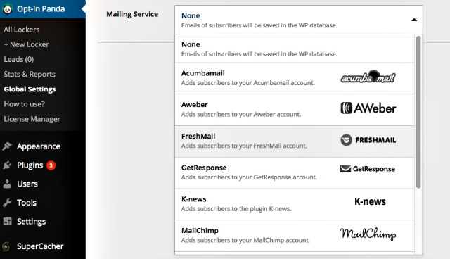 Mail service FreshMail Opt-In Panda