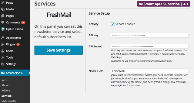 Smart AJAX_Freshmail_integration