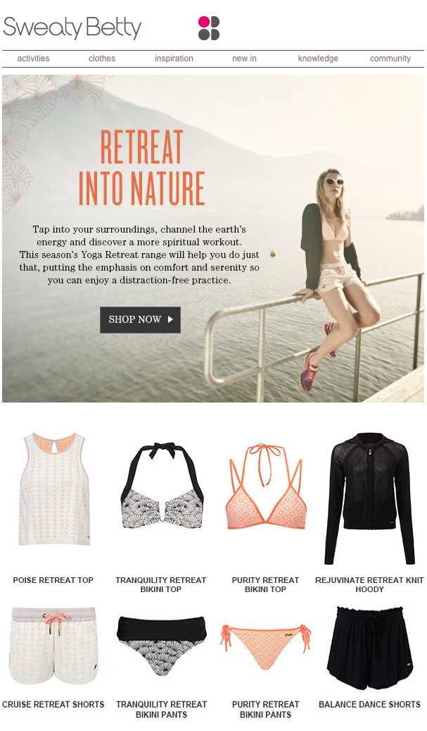 Newsletter: Sweaty Betty
