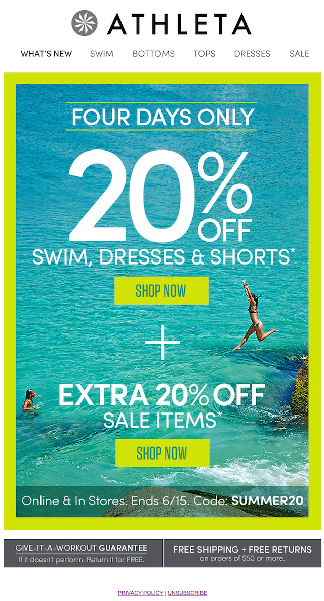 Newsletter: Athleta