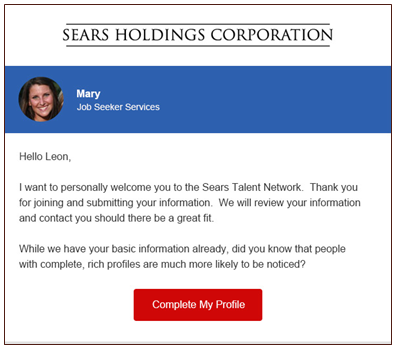 Autoresponder: Sears Holdings Corporation