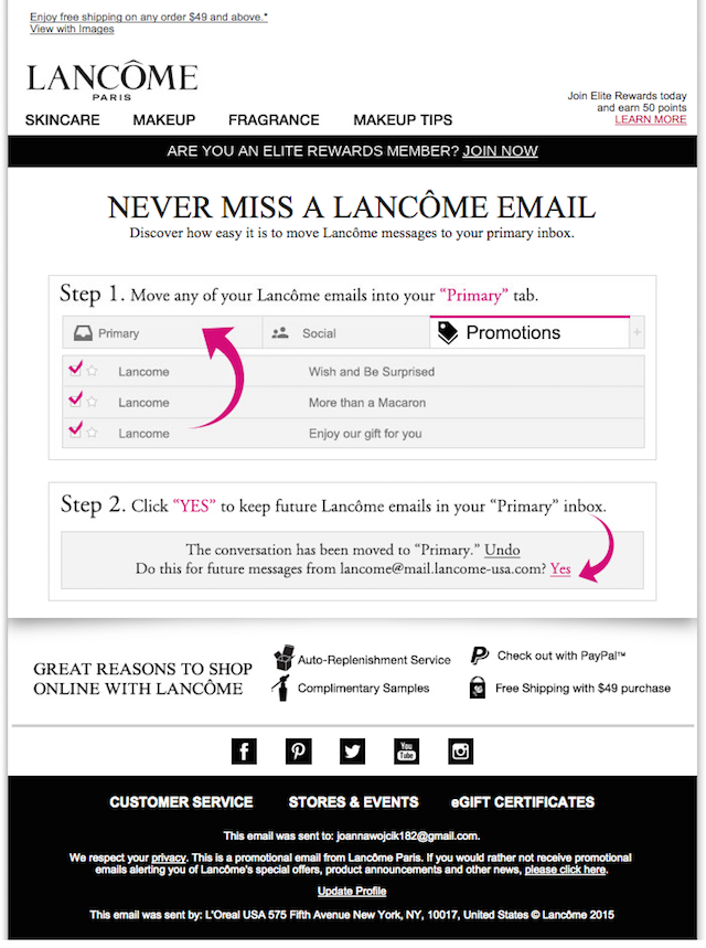 Newsletter: Lancome