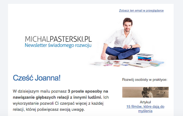 Newsletter: michalpasterski.pl