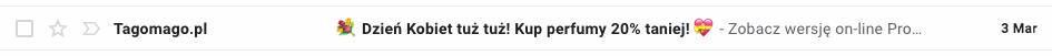 emoji w temacie maila