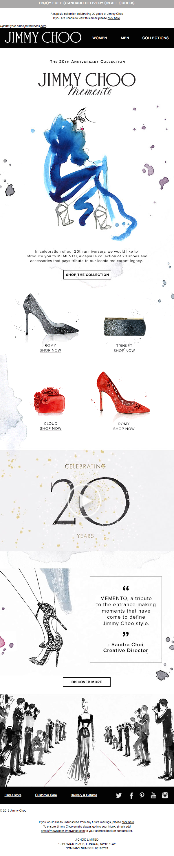 A capsule collection celebrating 20 years of Jimmy Choo