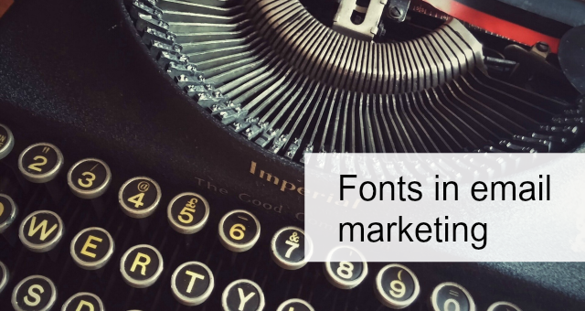 Fonts in email marketing