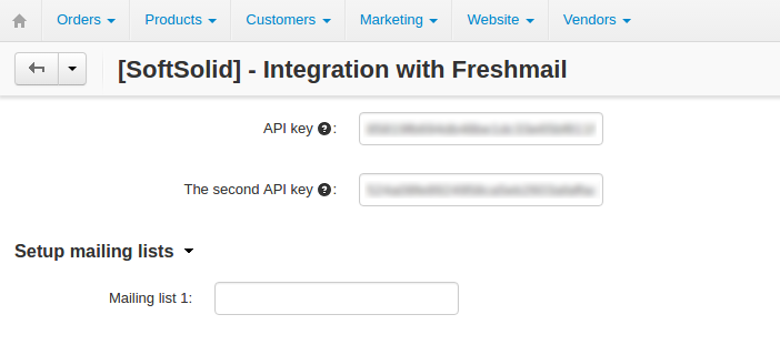 Integration with FreshMail