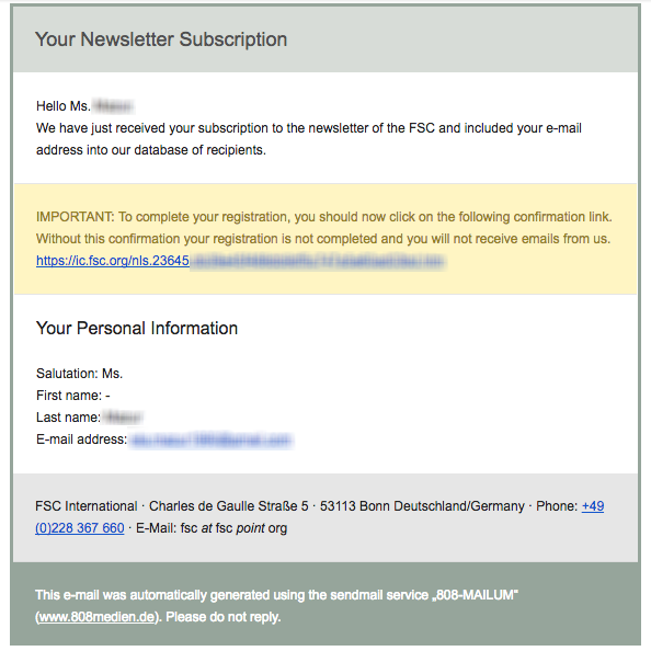 Email marketing for NGOs