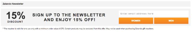 zalando newsletter