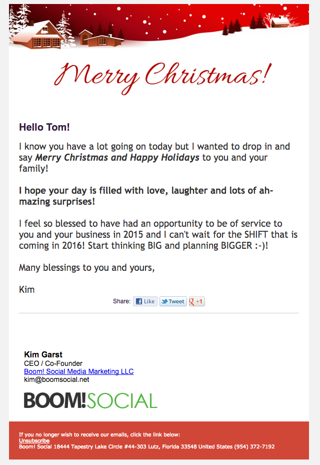 Great examples of Christmas email marketing campaigns