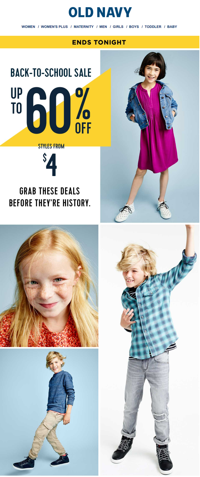 70 old navy back to school