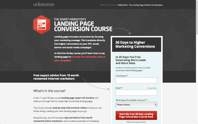 Email-Centric Landing Page - Image 1