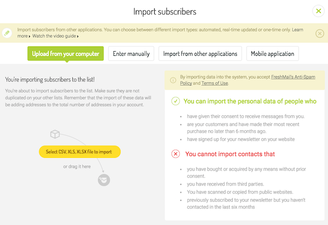 How To Move Subscribers From MailChimp To FreshMail FreshMail - Mailchimp import template