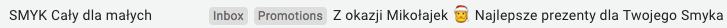 mailing mikołajkowy