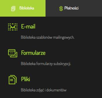biblioteka formularzy subskrypcji