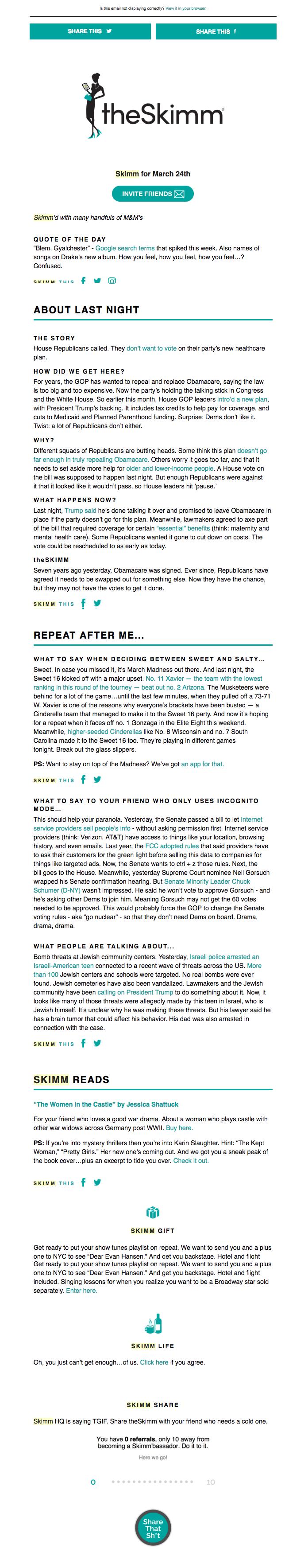 kreatywne newslettery