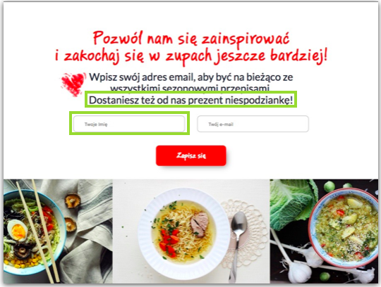 pop-up za zapis do newslettera