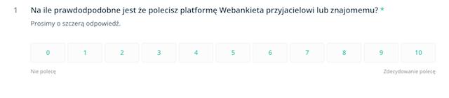 ankieta internetowa net promoter score