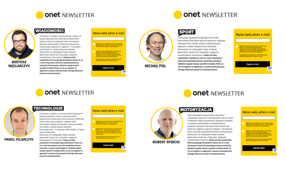 newslettery Onetu