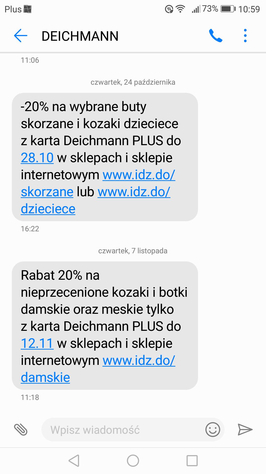 przykładowa kampania marketingowa sms