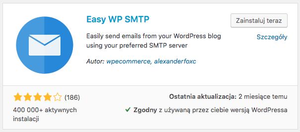 Instalacja wtyczki EASY WP SMTP