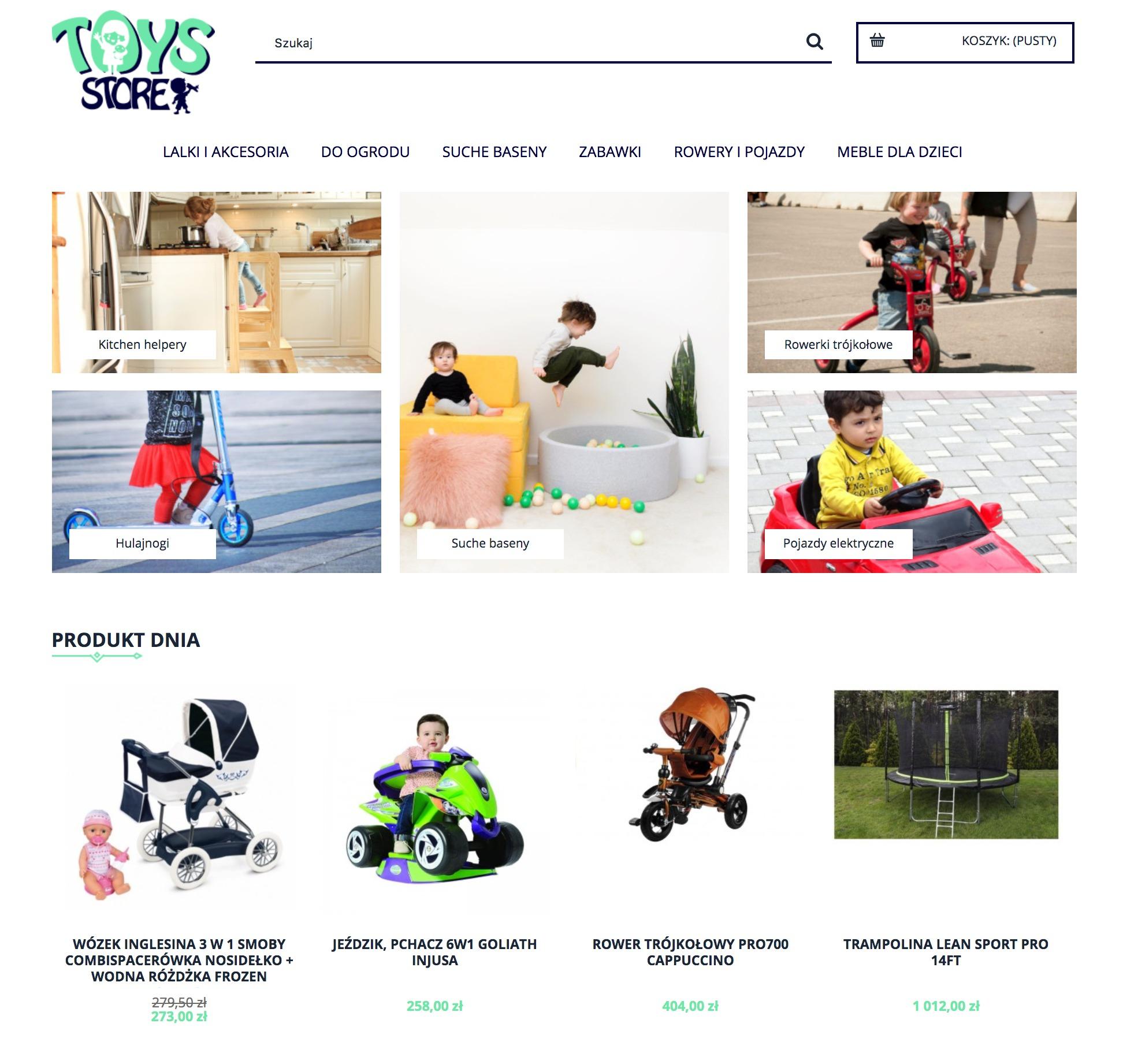 przykład sklepu internetowego toys store