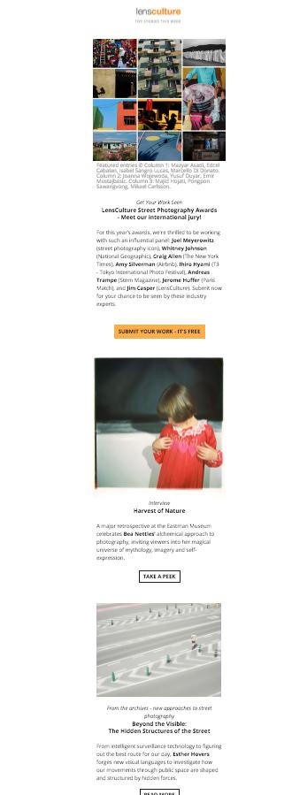 Przykłąd newslettera z branży kulturalnej