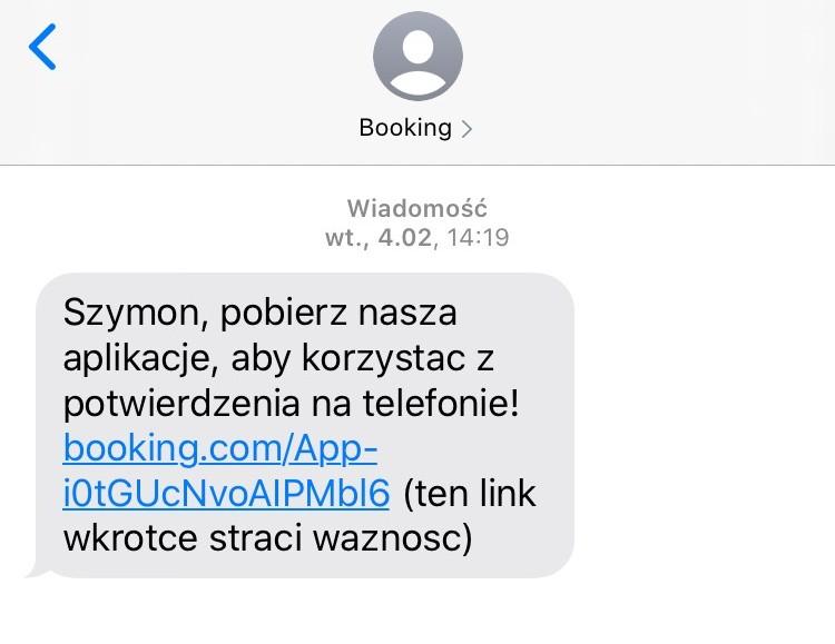spersonalizowany SMS