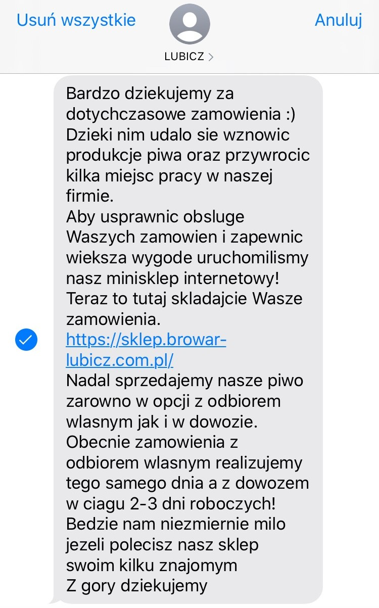 długi SMS marketingowy