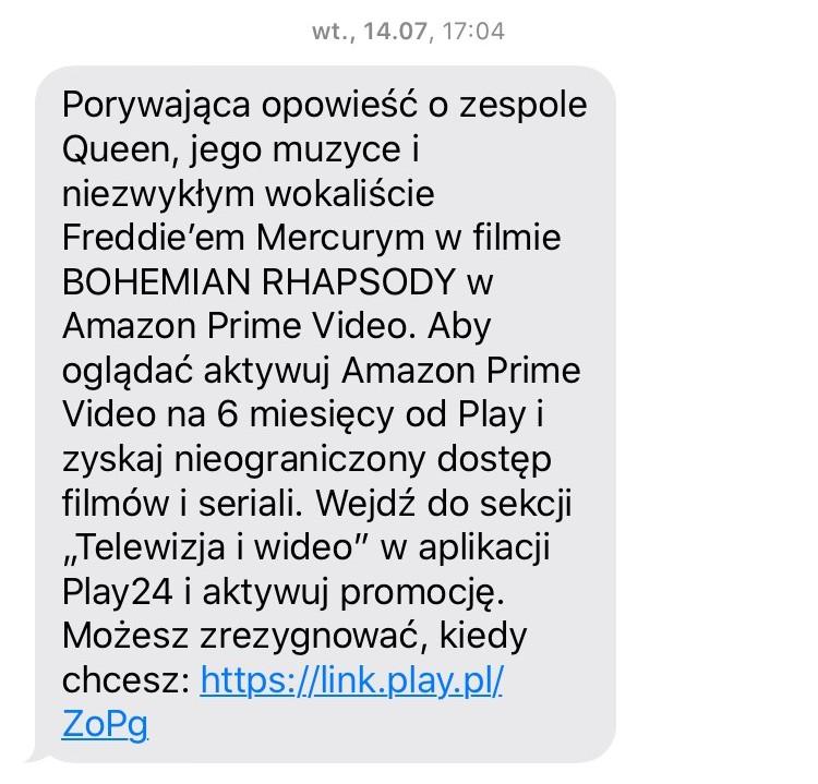 SMS od Play