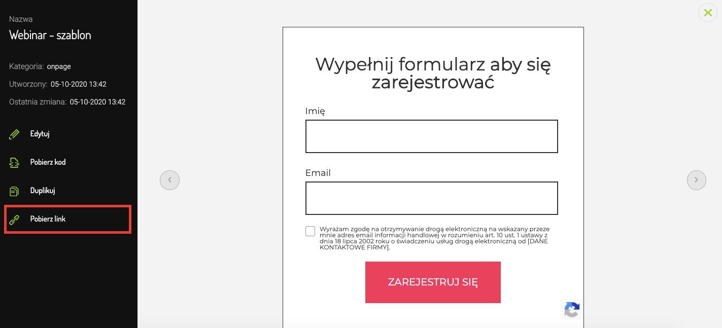 Pobierz link formularza