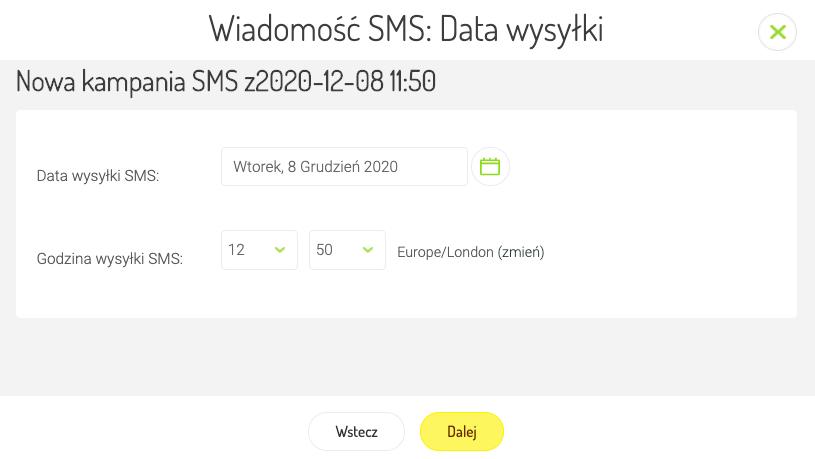 Tworzenie kampanii SMS- Marketing Automation